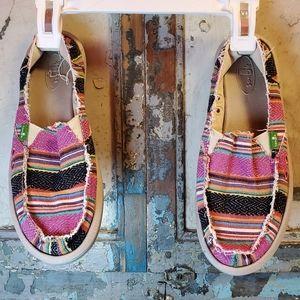 Multi-colored Sanuk shoes